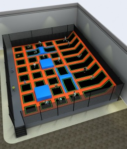 Free Zone Trampoline park for Adult CH-ST160032