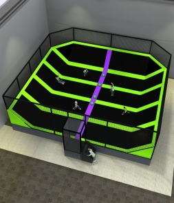 Square Dodge Ball Courts in trampoline park CH-ST160029
