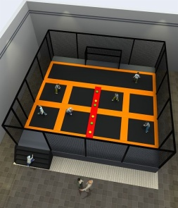 Square football trampoline park CH-ST160051