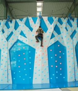 LED Indoor Soft Climbing Wall