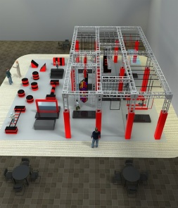 Warrior Course Design in Trampoline Park CH-PK160003