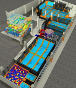 Special size Trampoline Park CH-ST160004