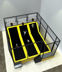 Standard 3 Lines Basketball Trampoline CH-ST160028