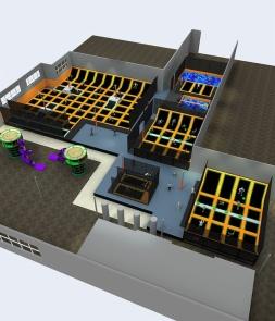 Trampoline Park of 3D design CH-ST160037